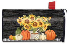 Fall's Glory Floral Mailbox Cover