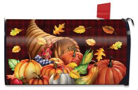 Fall Bounty Cornucopia Mailbox Cover