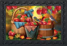 Harvest Apple Basket Fall Doormat