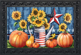 American Autumn Farmhouse Doormat