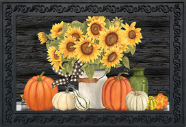 Fall's Glory Floral Doormat