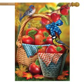 Harvest Apple Basket Fall House Flag