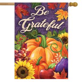 Be Grateful Fall House Flag