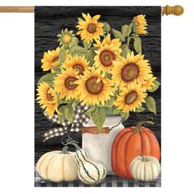 Fall's Glory Floral House Flag