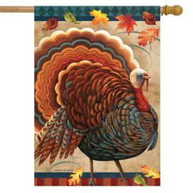 Fall Turkey House Flag