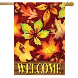 Colorful Fall Foliage House Flag