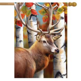 Forest Deer Fall House Flag