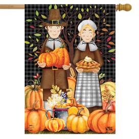 Pilgrims Thanksgiving House Flag