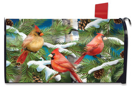 Snowy Cardinals Winter Mailbox Cover