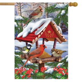 Gathered Together Winter House Flag