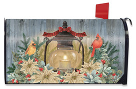 Warm Winter Candle Mailbox Cover