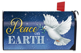 Peace on Earth Dove Christmas Mailbox Cover