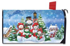 Caroling Snowmen Christmas Mailbox Cover
