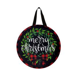 Christmas Wreath Burlap Door Hanger