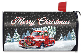 Merry Christmas Pickup Mailbox Cover