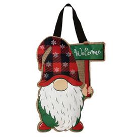 Winter Gnome Burlap Door Hanger