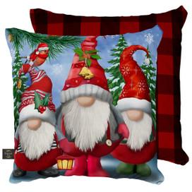 Winter Gnomes Christmas Decorative Pillow