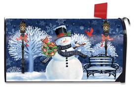Snowman Holiday Cheer Christmas Mailbox Cover