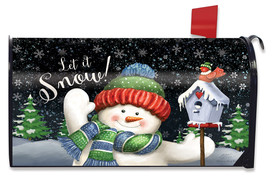 Snow Time Snowman Winter Mailbox Cover
