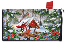 Gathered Together Winter Mailbox Cover