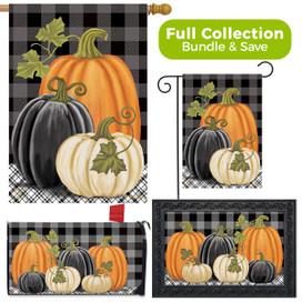 Checkered Pumpkins Autumn Design Collection