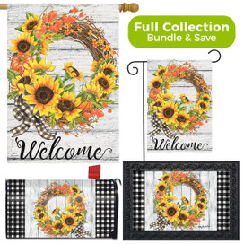Sunflower Fall Wreath Welcome Design Collection