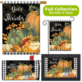 Checkered Give Thanks Primitive Design Collection