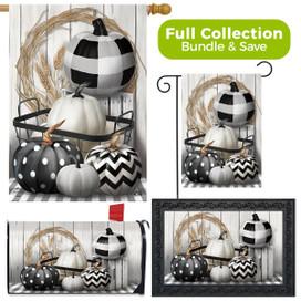 Black & White Pumpkins Fall Design Collection