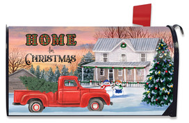 Home for Christmas Pickup Mailbox Cover