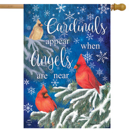 Cardinals Appear Winter House Flag