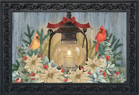 Warm Winter Candle Winter Doormat