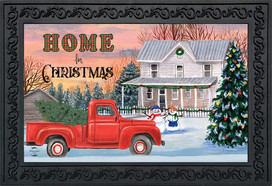 Home for Christmas Pickup Doormat