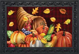 Fall Bounty Cornucopia Holiday Doormat