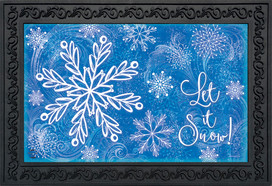 Glistening Snowflakes Winter Doormat