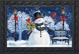 Snowman Holiday Cheer Christmas Doormat