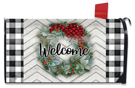 Winter Wreath Welcome Mailbox Cover