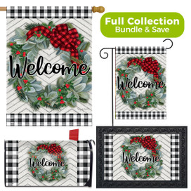 Winter Wreath Welcome Design Collection