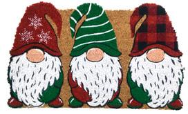 Holiday Gnomes Christmas Natural Fiber Coir Doormat