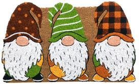 Fall Gnomes Natural Fiber Coir Doormat