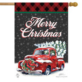 Merry Christmas Pickup House Flag
