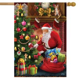 The Magic of Christmas House Flag