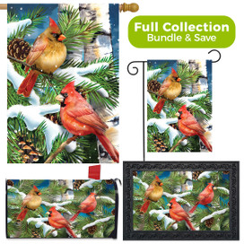 Snowy Cardinals Winter Design Collection