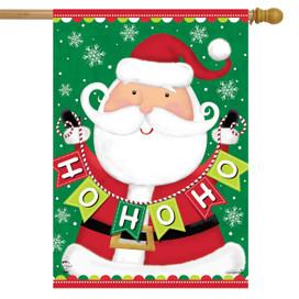 Santa Ho Ho Ho Christmas House Flag