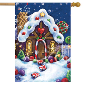 Sugar and Spice Christmas House Flag
