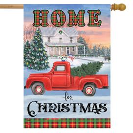 Home for Christmas Pickup Truck House Flag