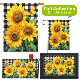 Checkered Sunflowers Summer Design Collection