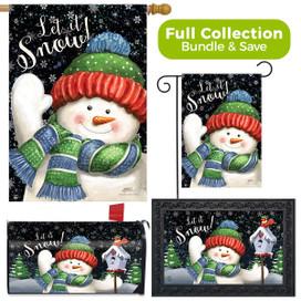 Snow Time Snowman Winter Design Collection