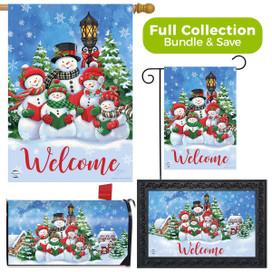 Caroling Snowmen Christmas Design Collection