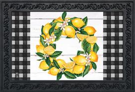 Lemon Wreath Summer Doormat