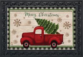Merry Christmas Pickup Truck Doormat